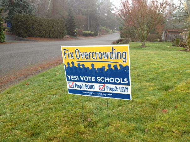 Fix Overcrowding: Yes! Vote Schools Campaign Sign